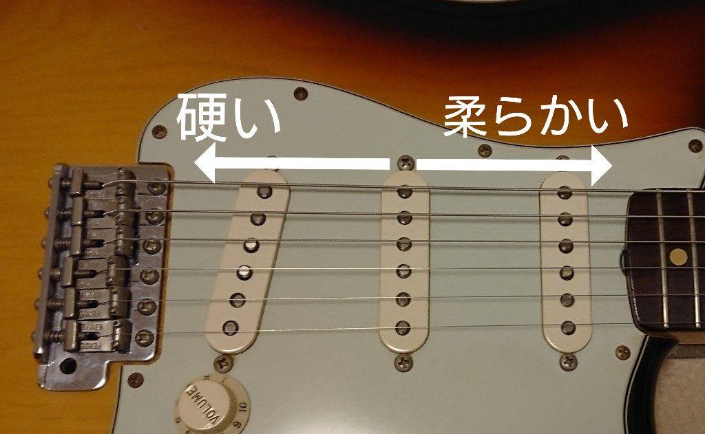 ギターストラト音の違い位置