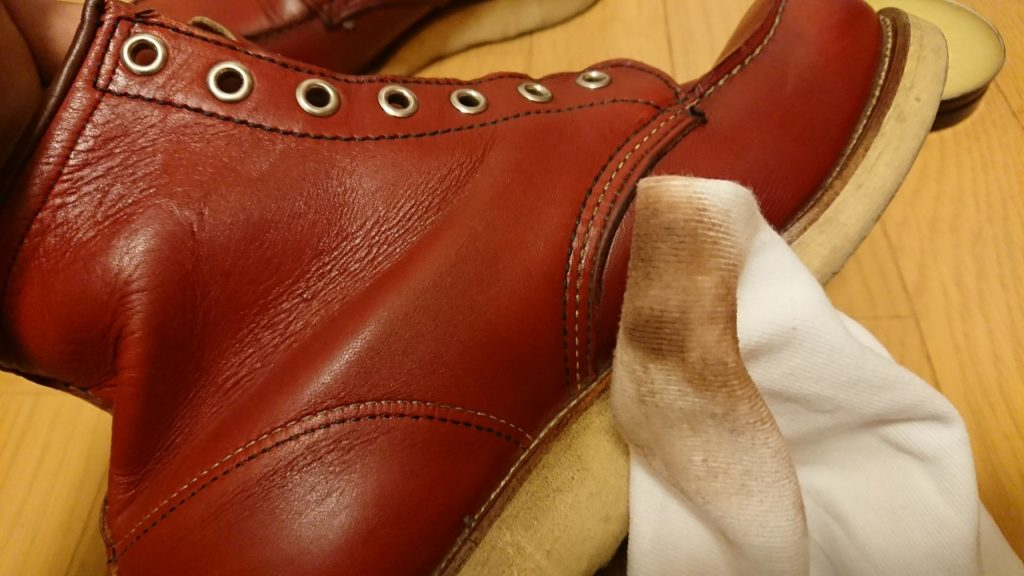 レッドウイングブーツミンクオイル磨き方