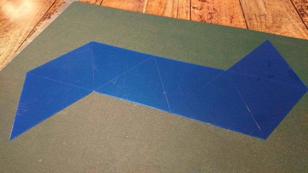 PPシート8面体展開平面